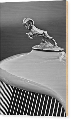 1933 Dodge Ram Hood Ornament 2 Wood Print by Jill Reger