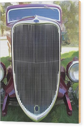1933 Ford Grille Wood Print