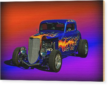 1933 Ford High Boy Hot Rod Wood Print by Tim McCullough