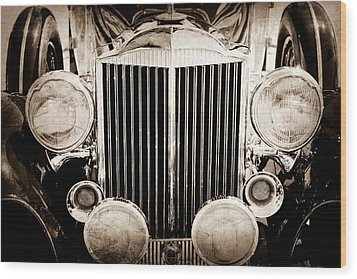 1933 Packard 12 Convertible Coupe Classic Car Wood Print by Jill Reger