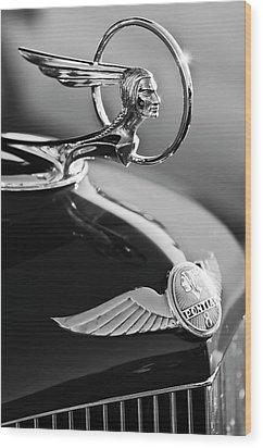 1933 Pontiac Hood Ornament 4 Wood Print by Jill Reger