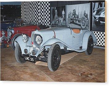1934 Aston Martin 1.5 Liter Mk. II Wood Print by Boris Mordukhayev