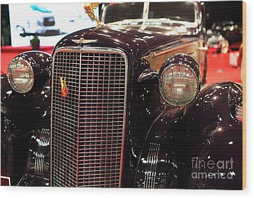 1934 Cadillac V16 Aero Coupe - 5d19876 Wood Print by Wingsdomain Art and Photography