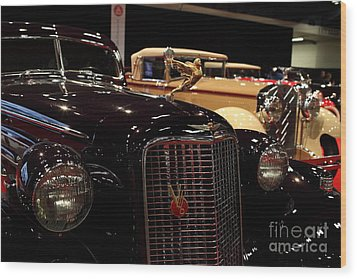 1934 Cadillac V16 Aero Coupe - 5d19877 Wood Print by Wingsdomain Art and Photography