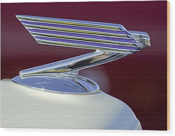 1934 Chevrolet Hood Ornament Wood Print by Jill Reger