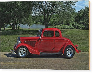 1934 Ford 5 Window Hot Rod Wood Print by Tim McCullough