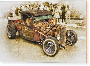 1934 Ford Rusty Rod Wood Print by motography aka Phil Clark