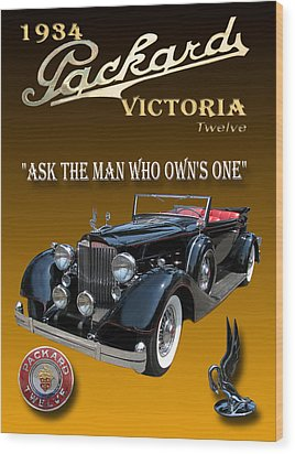 1934 Packard Wood Print