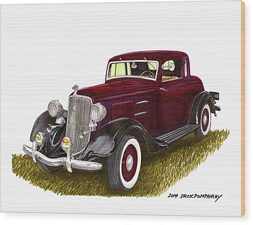 1934 Plymouth P E Coupe Wood Print by Jack Pumphrey
