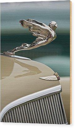 1935 Cadillac Convertible Hood Ornament Wood Print by Jill Reger