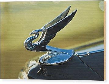 1935 Chevrolet Sedan Hood Ornament 2 Wood Print by Jill Reger