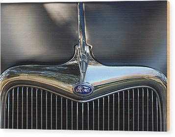 1935 Ford Grill Wood Print