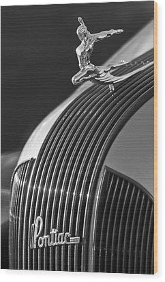 1935 Pontiac Sedan Hood Ornament 3 Wood Print by Jill Reger