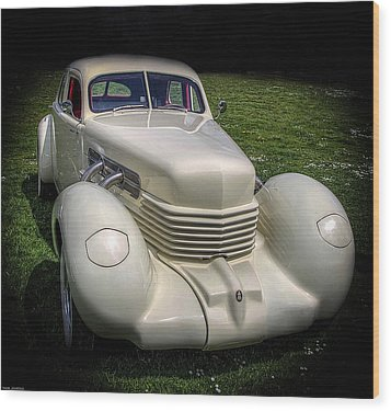 Wood Print featuring the photograph 1936 Cord Automobile by Thom Zehrfeld