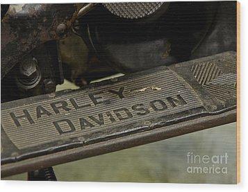 1936 El Knucklehead Harley Davidson Vintage Parts  Wood Print