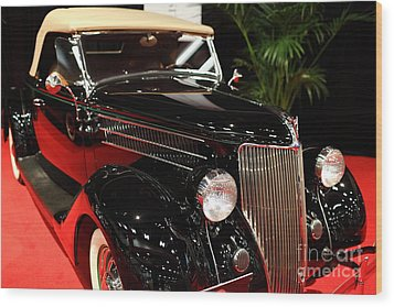 1936 Ford Deluxe Roadster - 5d19963 Wood Print by Wingsdomain Art and Photography