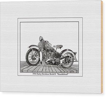 1936 Harley Knucklehead Wood Print