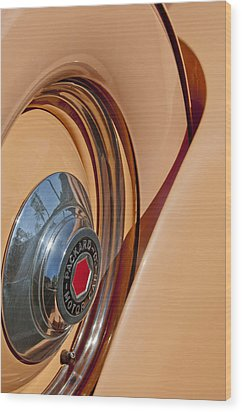 1936 Packard Spare Tire  Wood Print by Jill Reger