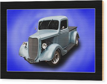 Wood Print featuring the photograph 1936 Pickup by Keith Hawley