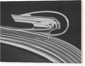 1936 Pontiac Hood Ornament 5 Wood Print by Jill Reger