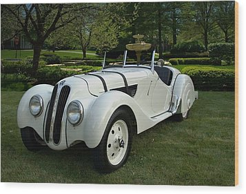 1937 Bmw 328 Roadster Wood Print by Tim McCullough