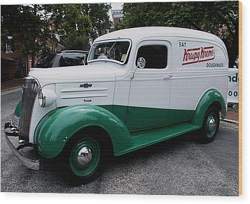 1937 Chevy Delivery Van Wood Print