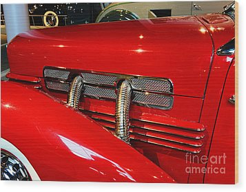 1937 Cord 812 Supercharged Phaeton Wood Print by Paul Ward