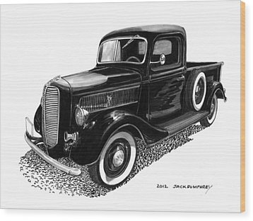 Ford Pick Up Truck Wood Print by Jack Pumphrey