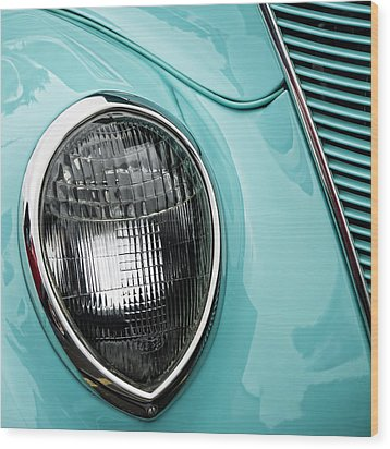 1937 Ford Sedan Slantback Square Wood Print by Carol Leigh