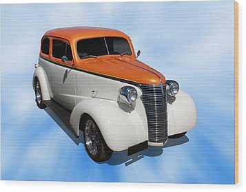 Wood Print featuring the photograph 1938 Chevy Tudor by Keith Hawley