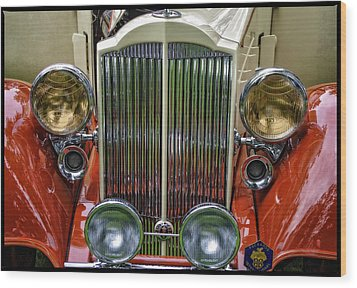 Wood Print featuring the photograph 1928 Classic Packard 443 Roadster by Thom Zehrfeld