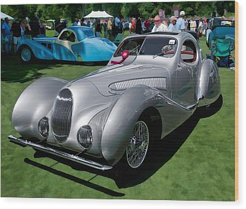1938 Darracq/talbot Lago T150c Wood Print by James Howe