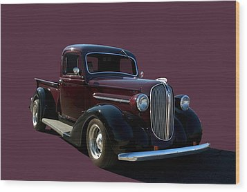 1938 Plymouth Hot Rod Pickup Truck Wood Print by Tim McCullough