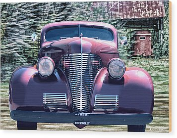 1939 Chevy Immenent Front Original Wood Print by Lesa Fine
