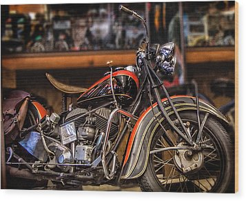 1939 Indian Chief Wood Print by Steve Benefiel