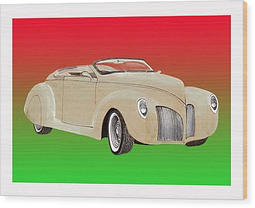 1939 Lincoln Zephyr Speedster Wood Print by Jack Pumphrey