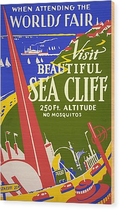 1939 Sea Cliff - Worlds Fair Celebration Wood Print by American Classic Art