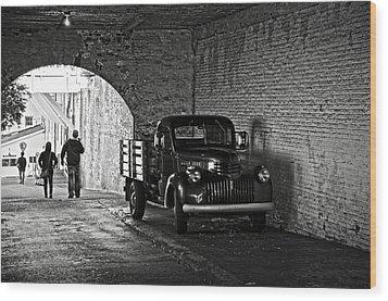 1940 Chevrolet Pickup Truck In Alcatraz Prison Wood Print by RicardMN Photography