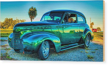 1940 Chevy Sedan Wood Print by Brian Wright