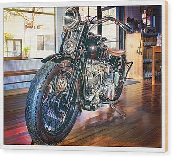 Wood Print featuring the photograph 1940 Crocker Big Tank by Steve Benefiel