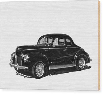 1940 Ford Restro Rod Wood Print by Jack Pumphrey