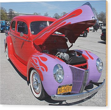1940 Ford Two Door Sedan Hot Rod Wood Print