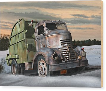 1940 Gmc Garbage Truck Wood Print