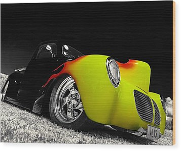 1940 Willys Pickup Wood Print by motography aka Phil Clark