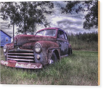 1940s Ford Super Deluxe 8 Wood Print