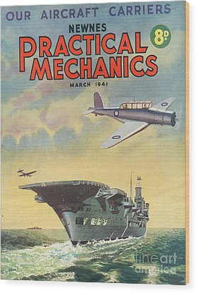 1940s Uk Practical Mechanics Magazine Wood Print by The Advertising Archives
