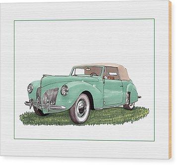 1941 Lincoln V-12 Continental Wood Print by Jack Pumphrey