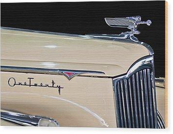 1941 Packard Hood Ornament Wood Print by Jill Reger