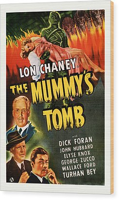 1942 The Mummys Tomb Vintage Movie Art Wood Print by Presented By American Classic Art