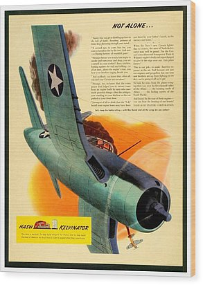 1943 - Nash Kelvinator Advertisement - Corsair - United States Navy - Color Wood Print